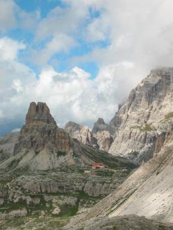 The magnificent Tre Cime di Lavaredo, Dolomites