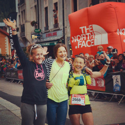Women's podium of the UTMB 2014: 1 - Rory Bosio 2 - Nuria Picas 3 - Nathalie Mauclair