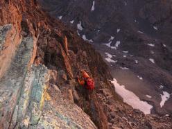Fulvio Scotto sulla Cresta Est del Monviso