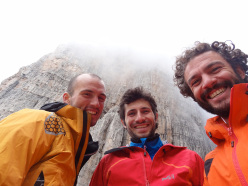 Selfies in the mountains...  Alessandro Baù, Alessandro Beber and Matteo Faletti