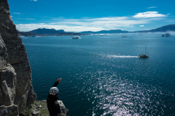 Partenza dalla barca a vela. Magica! Con Nicolas Favresse, Olivier Favresse, Ben Ditto e Sean Villanueva.