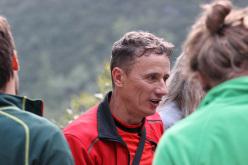 Andrea Zanetti at the celebration at Rifugio Croz dell'Altissimo