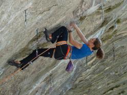 Anak Verhoeven climbing Last Soul Sacrifice 8c, Gorges du Loup, France