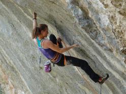 Anak Verhoeven climbing Hot Chili X 8c, Gorges du Loup, France