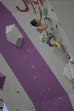 Jain Kim winning the Lead World Championship 2014 at Gijón, Spain