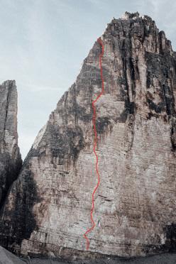 Ohne Rauch stirbst du auch (8a, 500m), Cima Grande, Tre Cime di Lavaredo, Dolomites