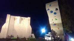 The competition wall at Padova