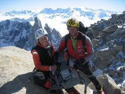 Piera Vitali e Yuri Parimbelli in cima al Fitz Roy