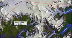 Volcan Aguilera: the route across the South Patagonian Icefield taken by the Uncharted expedition comprised of Camilo Rada, Natalia Martinez, Ines Dusaillant, Viviana Callahan and Evan Miles