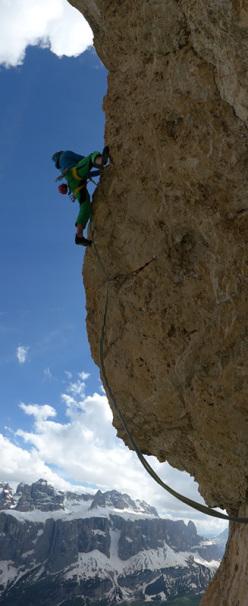 Durante l'apertura di Rien ne va plus (435m, 7b+ max, 7a oblig, Christoph Hainz, Simon Kehrer 10/2013)