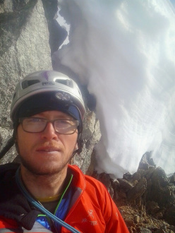 Philipp Angelo and the solo ascent of the polish route, Grandes Jorasses on 15/09/2014