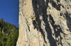 Modulo roccia in Dolomiti: Via Palfrader, Geierwand