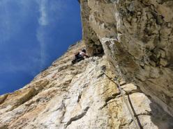 Dolomites climbing: Via Palfrader, Geierwand