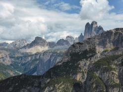 Dolomites climbing: Cime di Lavaredo seen from Geierwand