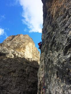 Dolomites climbing: Via Fata Morgana, II Torre di Sella