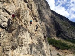 Dolomites climbing: