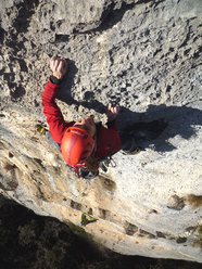 Martin Riegler on the 2nd pitch of Pandora, Arco
