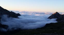 Nebbie mattutine, Val d'Ambiez, Dolomiti di Brenta