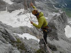Doppie dalla Cima d'Agola, Dolomiti di Brenta
