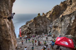The Climbing Legends in action during The North Face Kalymnos Climbing Festival 2014
