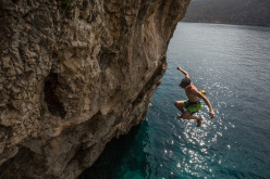 Deep Water Solo at Vathi, Kalymnos