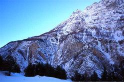 Vista generale delle cascate in Val di Vedro (Gole di Gondo)