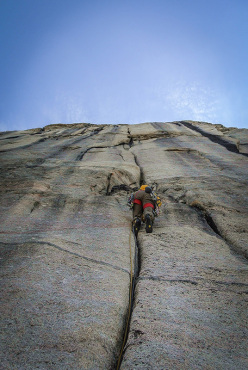 Silvan Schüpbach during the first ascent of