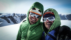 Christian Ledergerber and Matteo Della Bordella on the summit of Daderbrum.