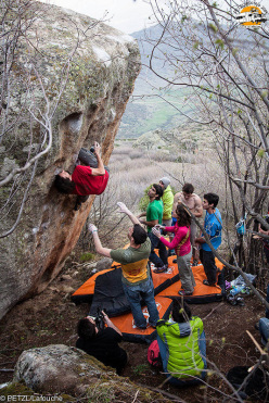 Durante il Petzl RocTrip 2014 a Prilep in Macedonia