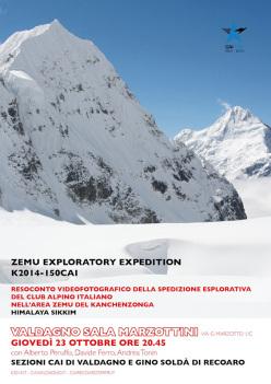 Zemu Exploratory Expedition K2014-150 CAI. Con Alberto Peruffo, Anindya Mukherjee, Cesar Rosales Chinchay, Francesco Canale, Davide Ferro, Andrea Tonin, Enrico Ferri.