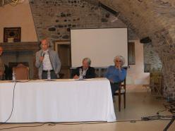 Da sinistra: Spiro Dalla Porta Xidias, Giancarlo Del Zotto, Alessandro Gogna