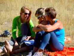 Libby Sauter, Mayan Smith-Gobat e Chantel Astorga nel El Capitan Meadow