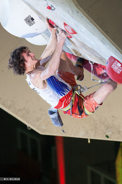 Adam Ondra winning the Inzai stage of the Lead World Cup 2014