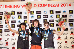 Male podium at Inzai: Sachi Amma, Adam Ondra and Domen Škofic