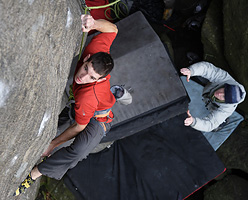 Alex Honnold on The Promise, Burbage, England