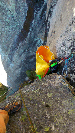Paolo Michielini establishing new routes in Val di Rava and Val di Fierollo