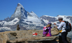 Rothorn Paradise, with the Matterhorn in the background