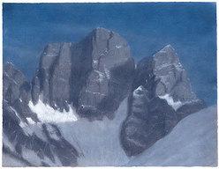 Pelmo, Dolomiti. Pastello 66.04 x 50.8