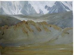 Mongolia, Acquerello e Guache 22.9 x 30.5