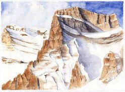 Pelmo, Dolomiti. Acquerello 76 x 56