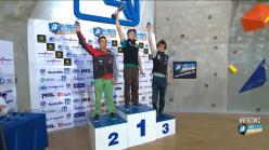 Coppa del Mondo Lead 2014: Sean McColl (argento), Jakob Schubert (oro), Adam Ondra (bronzo)