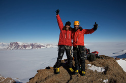 Thomas and Alexander Huber on the summit of