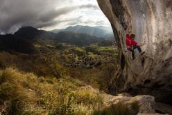 Gabriele Moroni climbing Goldrake 9a+, Cornalba, in 2012