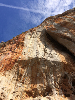 The 8a climbed by Stefan Rass at San Vito lo Capo