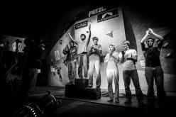 I partecipanti del La Sportiva Legends Only 2013: Dmitry Sharafutdinov, Jimmy Webb, Jan Hojer, Alexander Megos, Nalle Hukkataival, Sean McColl