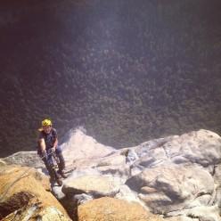 Josh McCoy e Alex Honnold ripetono la Pre Muir Wall, El Capitan, Yosemite.