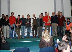 Momento di premiazione di tutti i partecipanti al premio Marco Dalla Longa