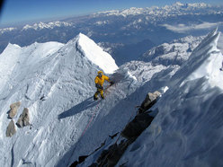 Nearing the summit of Makalu