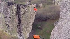 Ethan Pringle bouldering at Prilep, Macedonia