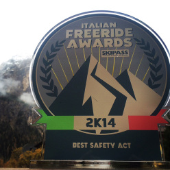 The Best Safety Act prize by the Italian Freeride Awards 2014 won by Progetto Icaro
